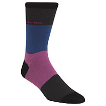 Buy Calvin Klein Giza Stripe Socks, One Size, Multi Online at johnlewis.com
