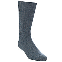 Buy Calvin Klein Twisted Yarn Ribbed Socks, Denim Blue Online at johnlewis.com