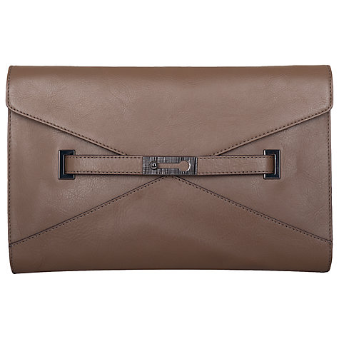 Buy French Connection Clutch, Burnt Charcoal Online at johnlewis.com