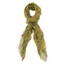 Buy French Connection Textured Check Scarf, Sulphur Online at johnlewis.com