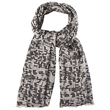 Buy White Stuff Chair Print Scarf, Grey Online at johnlewis.com