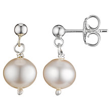 Buy Cobra & Bellamy Sterling Silver White Pearl Drop Earrings Online at johnlewis.com