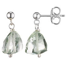 Buy Cobra & Bellamy Sterling Silver Green Amethyst Drop Earrings Online at johnlewis.com