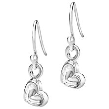 Buy Dower & Hall Heart Sterling Silver Drop Earrings Online at johnlewis.com