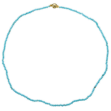 Buy Cobra & Bellamy 18ct Gold Vermeil Turquoise Necklace Online at johnlewis.com