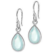 Buy Dower & Hall Sterling Silver Chalcedony Drop Earrings Online at johnlewis.com