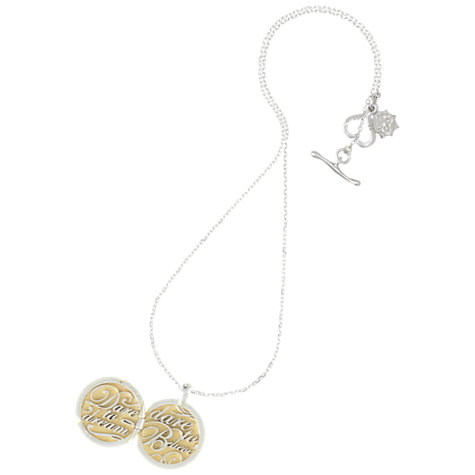 Buy Dower & Hall Sterling Silver Pendant Necklace With Dare To Dream 18ct Gold Vermeil Locket Online at johnlewis.com