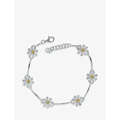 Nina B Flower Sterling Silver And Gold Plated Bracelet