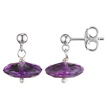 Buy Cobra & Bellamy Sterling Silver Amethyst Drop Earrings Online at johnlewis.com