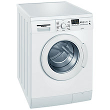 Buy Siemens WM14E461GB Washing Machine, 7kg Load, A+++ Energy Rating, 1400rpm Spin, White Online at johnlewis.com
