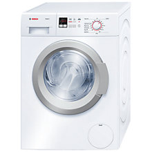 Buy Bosch Exxcel WAK28160GB Washing Machine, 8kg Load, A+++ Energy Rating, 1400rpm Spin, White Online at johnlewis.com