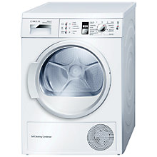 Buy Bosch WTW863S1GB Sensor Heat Pump Condenser Tumble Dryer, 7kg Load, A++ Energy Rating, White Online at johnlewis.com
