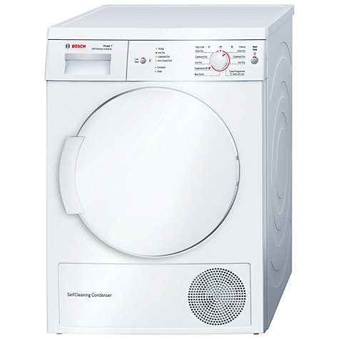Buy Bosch WTW84161GB Sensor Heat Pump Condenser Tumble Dryer, 7kg Load, A++ Energy Rating, White Online at johnlewis.com