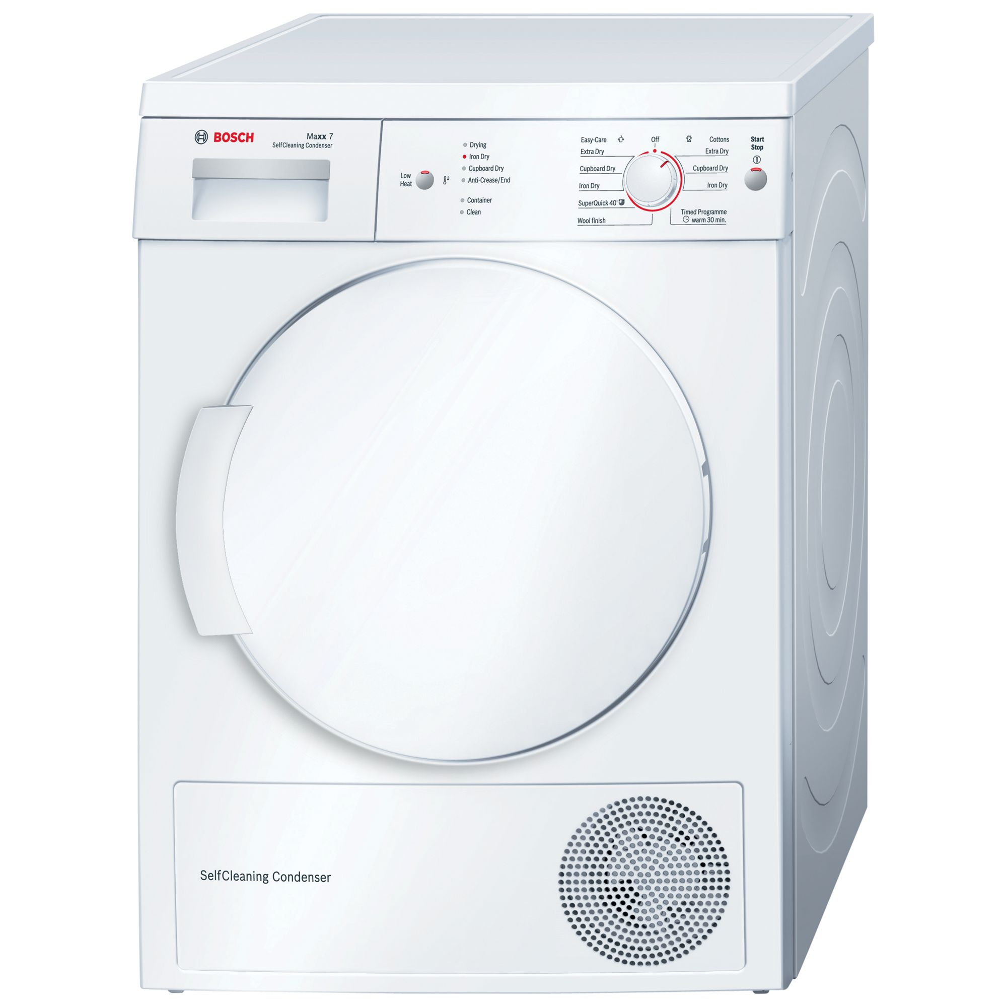 Bosch WTW84161GB Sensor Condenser Tumble Dryer, 7kg Load, A++ Energy Rating, White
