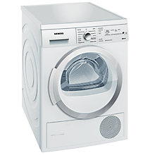 Buy Siemens WT46W381GB Heat Pump Condenser Tumble Dryer, 7kg Load, A++ Energy Rating, White Online at johnlewis.com