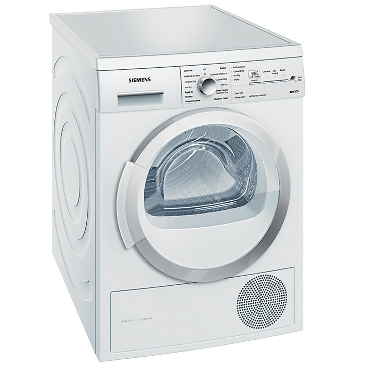 Siemens WT46W381GB Heat Pump Condenser Tumble Dryer - White