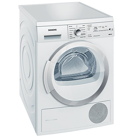 Buy Siemens WT46W381GB Condenser Tumble Dryer, 7kg Load, A++ Energy Rating, White Online at johnlewis.com