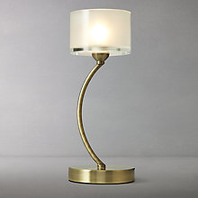 Buy John Lewis Paige Touch Table Lamp, Satin Brass Online at johnlewis.com