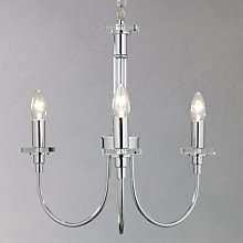 Buy John Lewis Iris Chrome Crystal Multi-arm Ceiling Light, 3 Arm Online at johnlewis.com