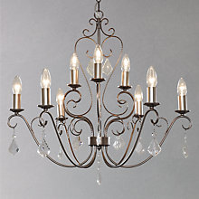 Buy John Lewis Titania Glass Drops Chandelier, 9 Light Online at johnlewis.com