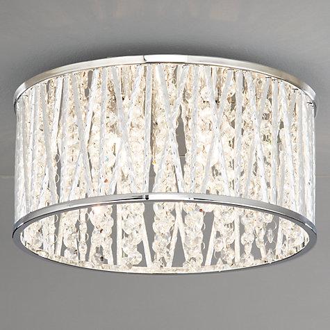 Buy John Lewis Emilia Crystal Drum Flush Ceiling Light