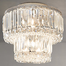 Buy John Lewis Elena 2 Tier Crystal Bars Flush Ceiling Light Online at johnlewis.com