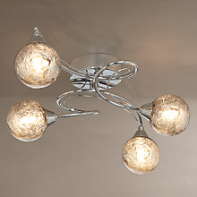 Buy John Lewis Corin Crackly Glass Semi-flush Ceiling Light, 4 Arm Online at johnlewis.com