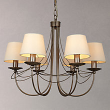 Buy John Lewis Mariana Shaded Multi-arm Ceiling Light, 6 Arm, Pewter Online at johnlewis.com