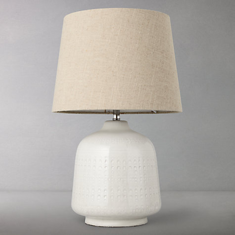 Buy John Lewis Celena Stoneware Table Lamp, Natural Online at johnlewis.com