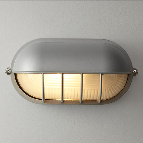 Buy John Lewis Hanover Bulk Head Outdoor Wall Light, Grey Online at johnlewis.com