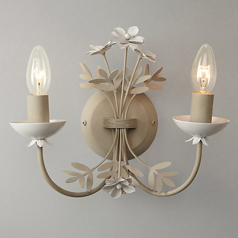 Buy John Lewis Cathy Floral Wall Light, Grey, 2 Arm Online at johnlewis.com