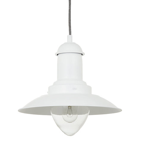 Buy John Lewis Barrington Pendant Ceiling Light, White Online at johnlewis.com