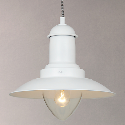John Lewis Barrington Ceiling Pendant, White