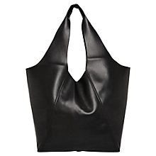 Buy Mango Hobo Handbag, Black Online at johnlewis.com