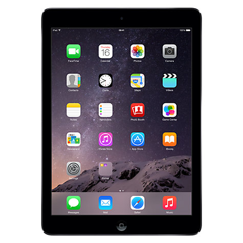 "Buy Apple iPad Air, Apple A7, iOS 7, 9.7"", Wi-Fi, 32GB, Space Grey Online at johnlewis.com"