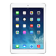 "Buy Apple iPad Air, Apple A7, iOS 7, 9.7"", Wi-Fi & Cellular, 64GB, Silver + Microsoft Office 365 Personal Online at johnlewis.com"