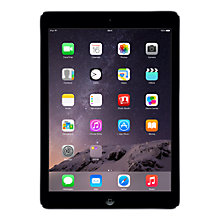 "Buy Apple iPad Air, Apple A7, iOS 7, 9.7"", Wi-Fi & Cellular, 16GB, Space Grey Online at johnlewis.com"