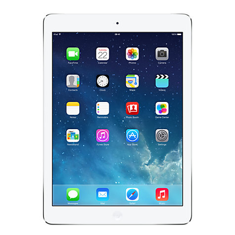 "Buy Apple iPad Air, Apple A7, iOS 7, 9.7"", Wi-Fi & Cellular, 16GB, Silver Online at johnlewis.com"