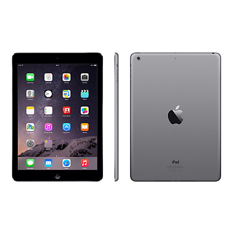 "Buy Apple iPad Air, Apple A7, iOS 8, 9.7"", Wi-Fi, 16GB Online at johnlewis.com"