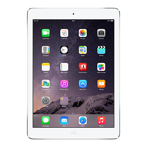 "Buy Apple iPad Air, Apple A7, iOS 7, 9.7"", Wi-Fi, 16GB, Silver Online at johnlewis.com"