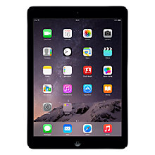 "Buy Apple iPad Air, Apple A7, iOS 7, 9.7"", Wi-Fi & Cellular, 32GB, Space Grey Online at johnlewis.com"