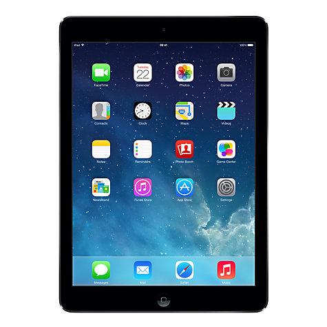 "Buy Apple iPad Air, Apple A7, iOS 7, 9.7"", Wi-Fi, 128GB, Space Grey Online at johnlewis.com"