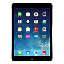 "Buy Apple iPad Air, Apple A7, iOS 7, 9.7"", Wi-Fi & Cellular, 128GB, Space Grey + Microsoft Office 365 Personal Online at johnlewis.com"