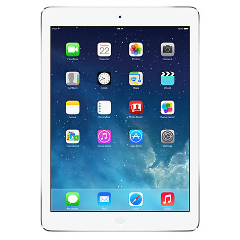 "Buy Apple iPad Air, Apple A7, iOS 7, 9.7"", Wi-Fi, 64GB, Silver Online at johnlewis.com"