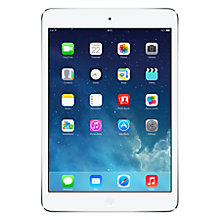 "Buy Apple iPad mini with Retina display, Apple A7, iOS 7, 7.9"", Wi-Fi, 128GB, Silver + Microsoft Office 365 Personal Online at johnlewis.com"