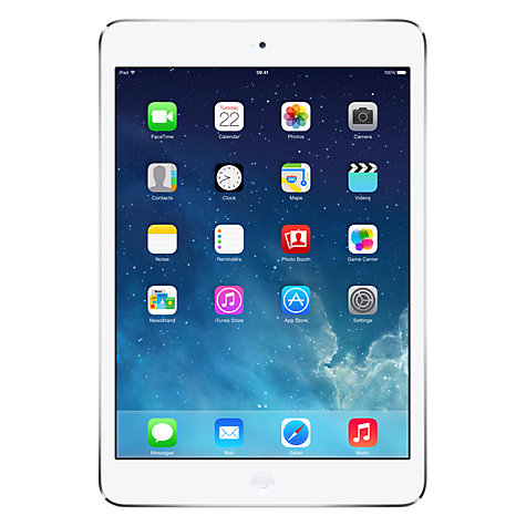 Buy Apple iPad mini with Retina display, Apple A7, iOS 7, 7.9, Wi-Fi, 128GB, Silver Online at johnlewis.com
