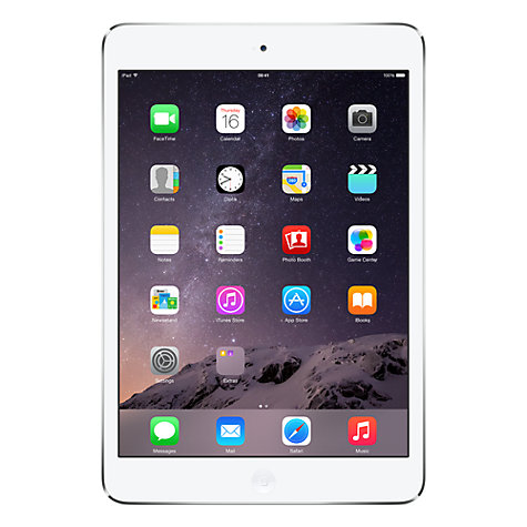 Buy Apple iPad mini with Retina display, Apple A7, iOS 7, 7.9, Wi-Fi, 32GB, Silver Online at johnlewis.com