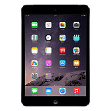 "Buy Apple iPad mini with Retina display, Apple A7, iOS 7, 7.9"", Wi-Fi & Cellular, 32GB, Space Grey Online at johnlewis.com"