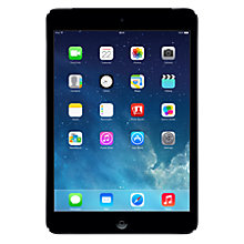 "Buy Apple iPad mini with Retina display, Apple A7, iOS 7, 7.9"", Wi-Fi & Cellular, 64GB, Space Grey Online at johnlewis.com"