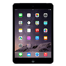 "Buy Apple iPad mini with Retina display, Apple A7, iOS 7, 7.9"", Wi-Fi & Cellular, 16GB, Space Grey Online at johnlewis.com"